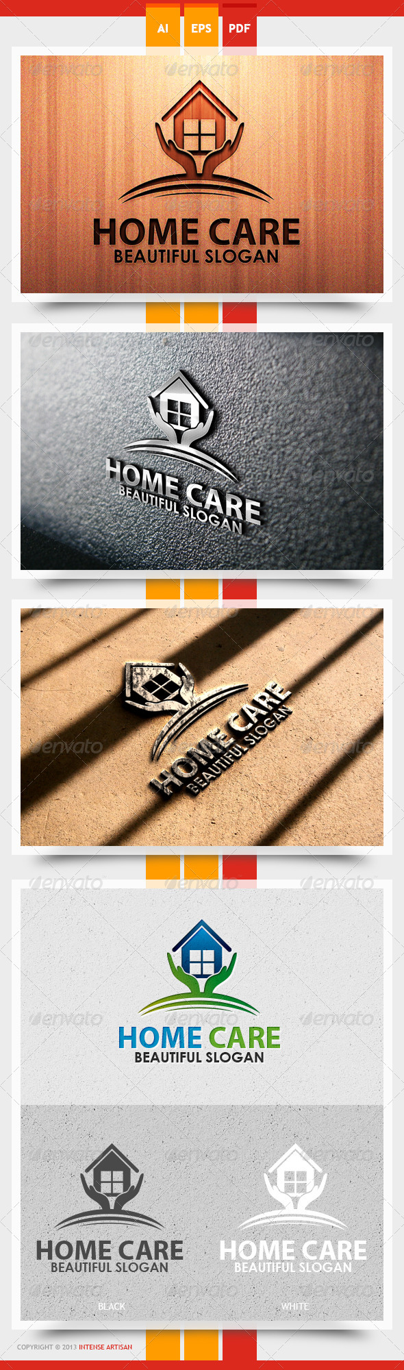 GraphicRiver Home Care Logo Template 5565596