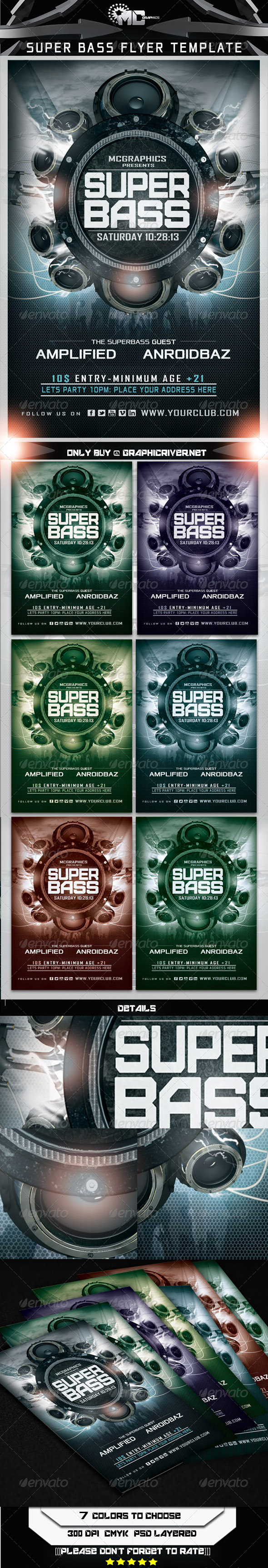 GraphicRiver Super Bass Flyer Template 5272652