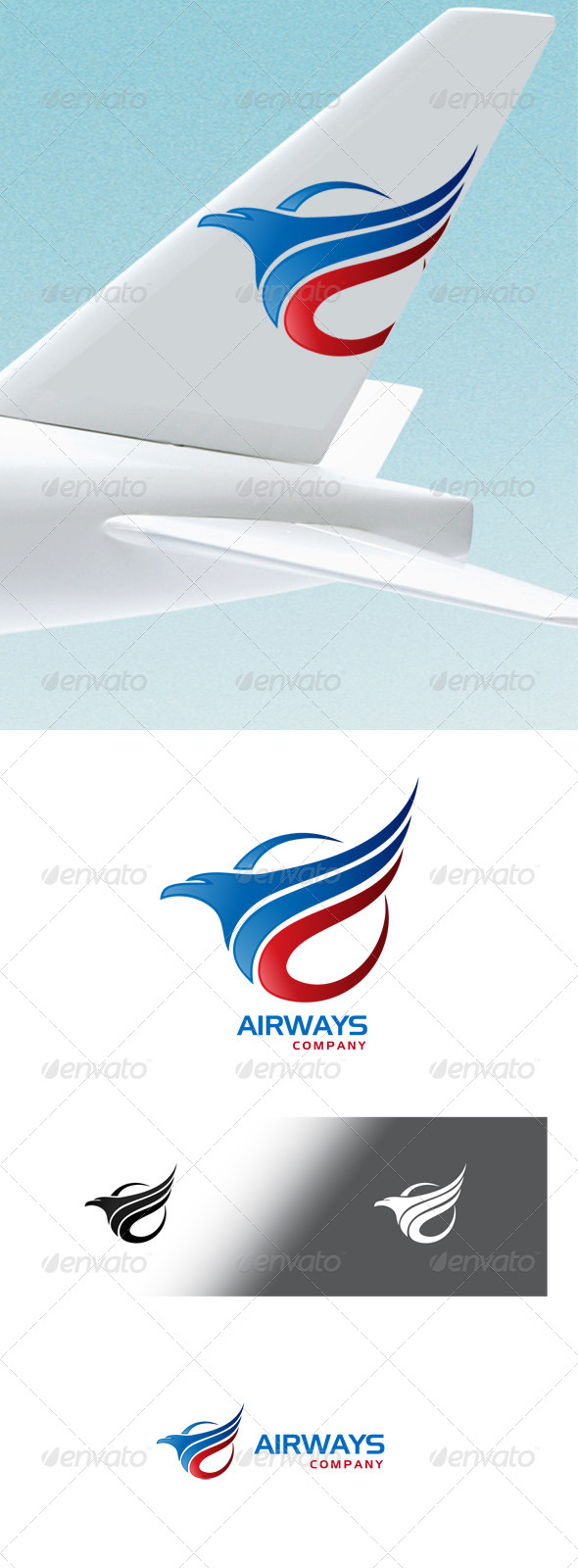 Airways Company Logo - Animals Logo Templates