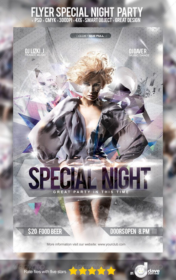 Flyer Special Night Party - Clubs & Parties Events
