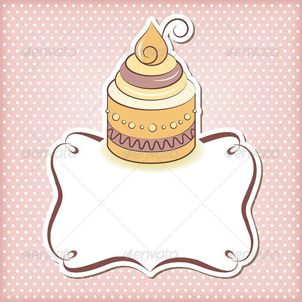 GraphicRiver Cupcake Frame 5566266