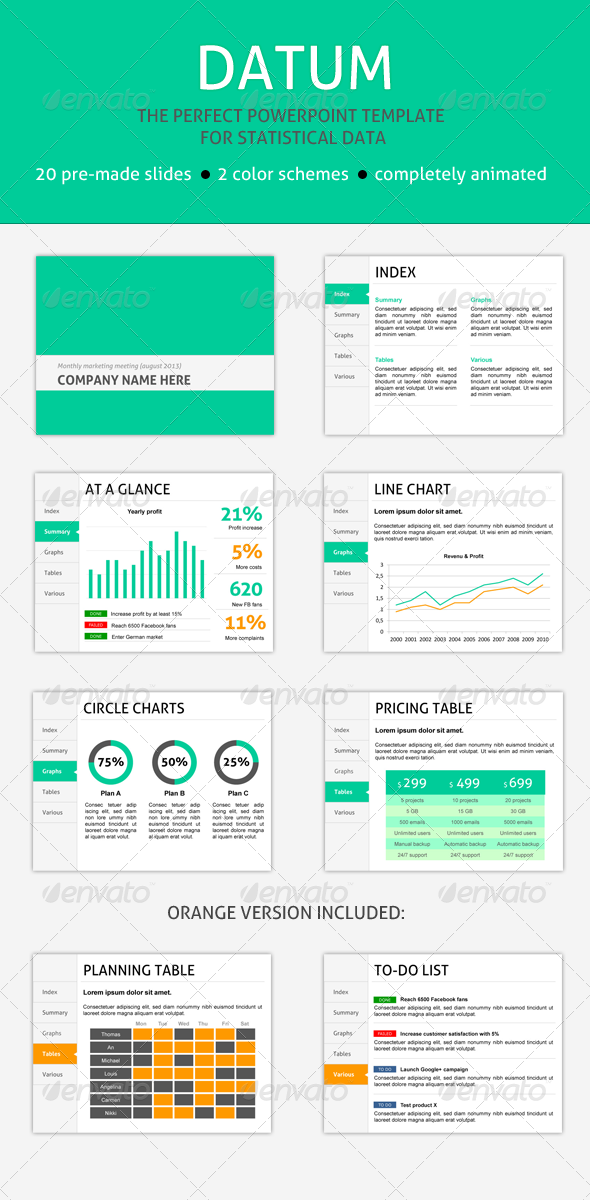 GraphicRiver Datum PPT Template for Data 5566454