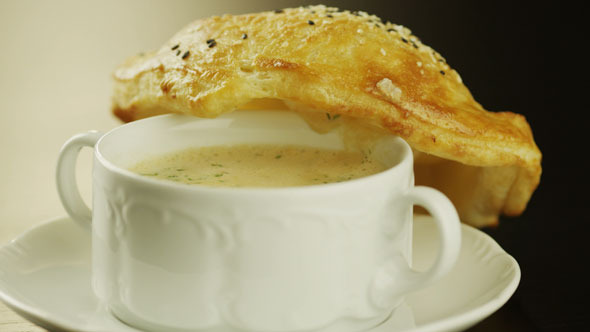 VideoHive Shot of Delicious Lobster Cream Soup 4K 5566978