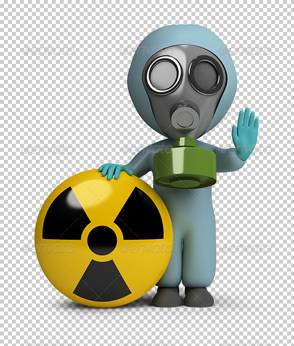 GraphicRiver 3D small people radiation 5567324