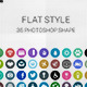 Flat Icon Photoshop Shape - GraphicRiver Item for Sale