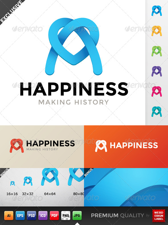 GraphicRiver Happiness Logo 5567582
