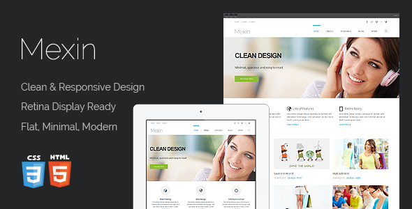Mexin - Premium Multipurpose Responsive Template