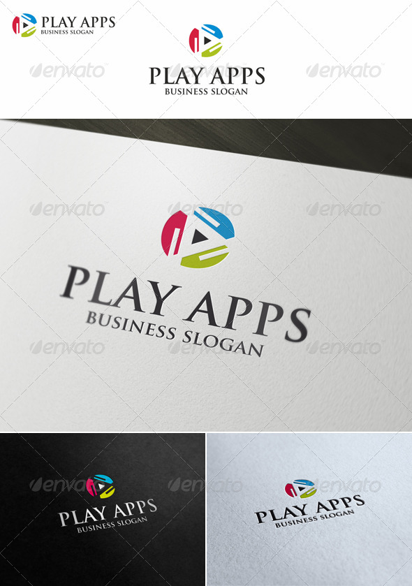 Play Apps Software Logo - Symbols Logo Templates