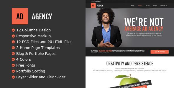 ThemeForest AdAgency HTML Template 5551520
