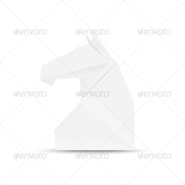 GraphicRiver Illustration of Horse Head in Origami style 5567749
