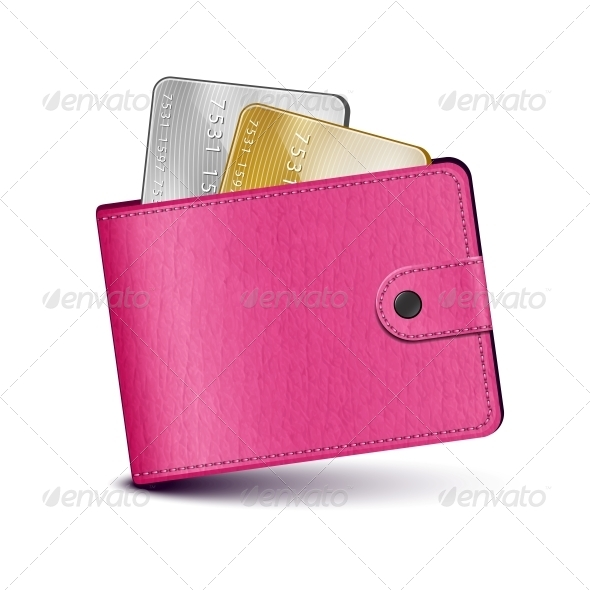 GraphicRiver Pink Leather Wallet 5567775
