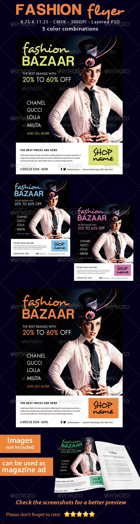 GraphicRiver Fashion Sale Flyer 5568079