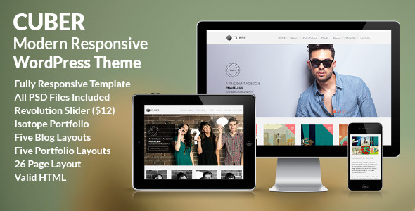 Cuber - Modern Responsive Minimal WordPress Theme - Creative WordPress