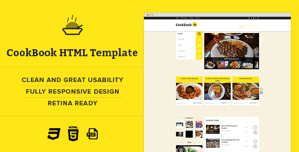 CookBook - Retina Responsive Recipe HTML Template - Food Retail