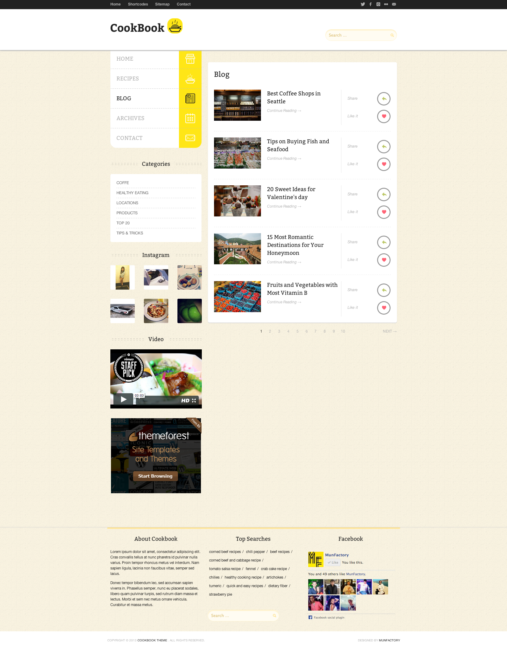 CookBook - Retina Responsive Recipe HTML Template
