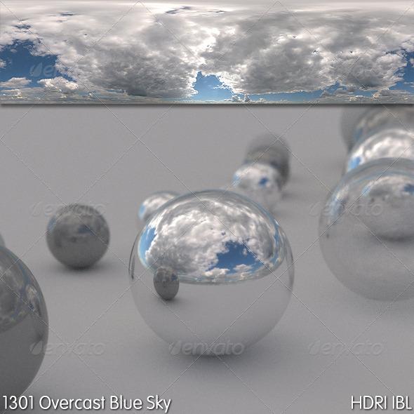 3DOcean HDRI IBL 1301 Overcast Blue Sky 5569463