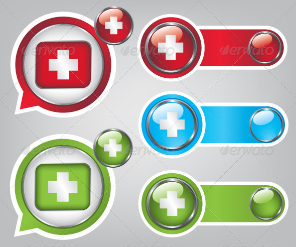 GraphicRiver First Aid Icon Buttons 5570672