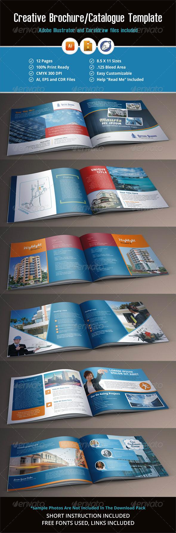 GraphicRiver Creative Brochure Catalog Template 5541087