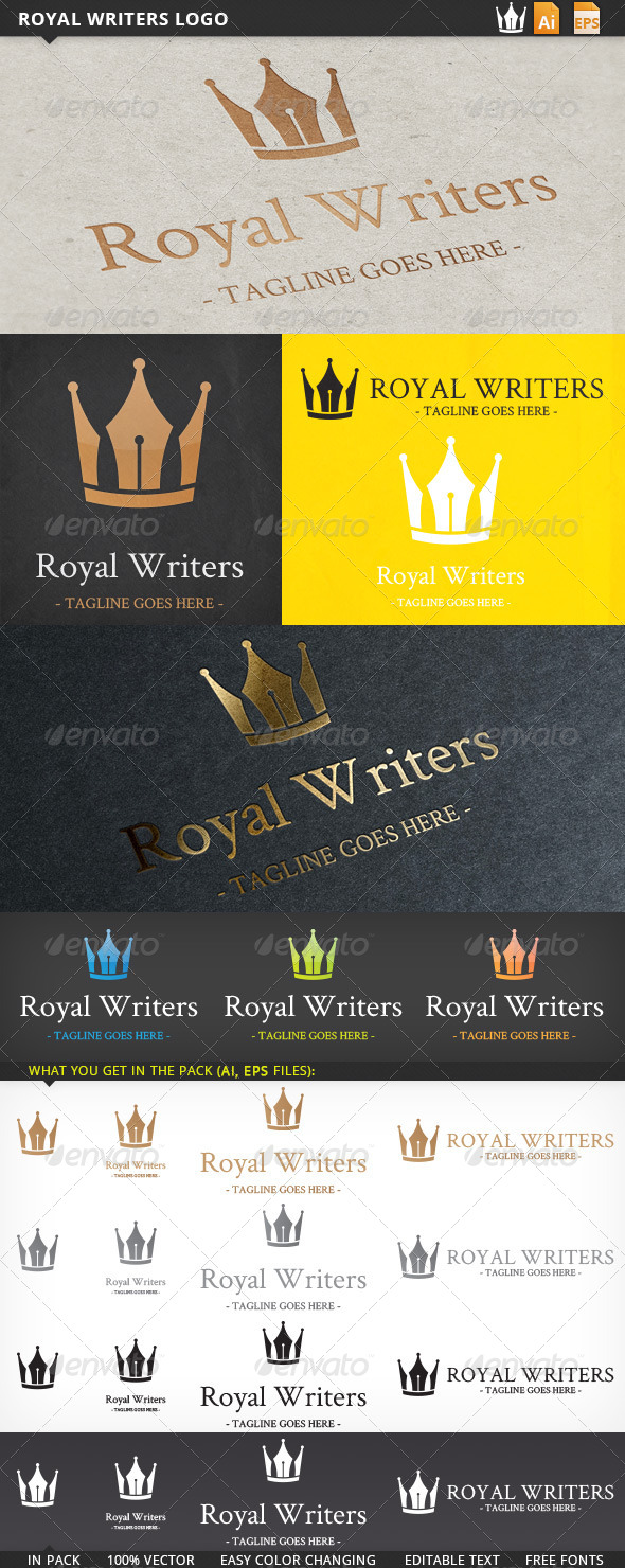 GraphicRiver Royal Writers Logo 5572238