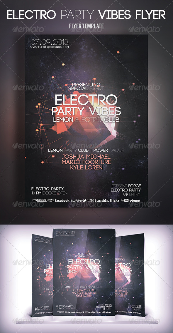 Electro Party Vibes Flyer - Print Templates