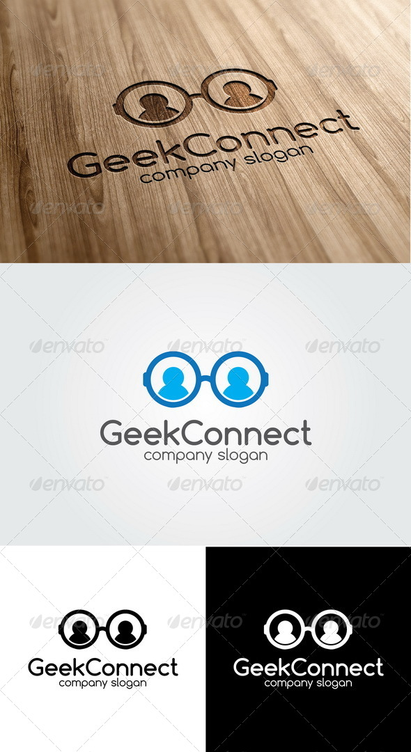 GraphicRiver Geek Connect Logo 5573069