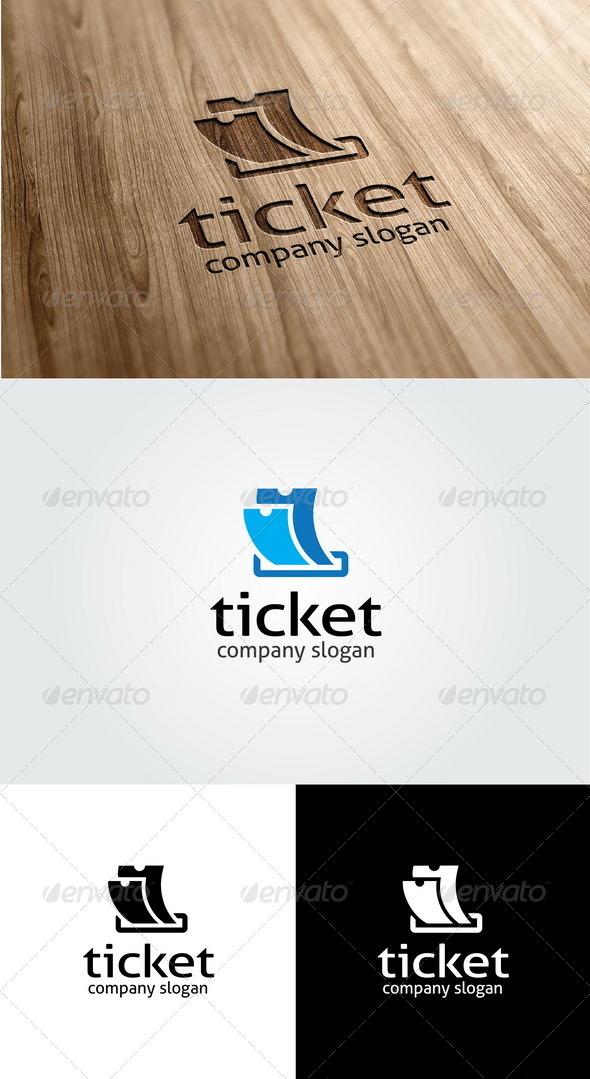 GraphicRiver Ticket Logo Template 5573079