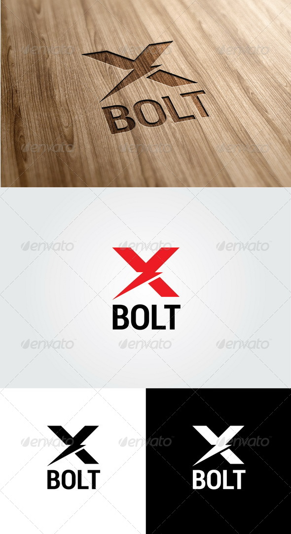 GraphicRiver X Bolt Logo 5573099