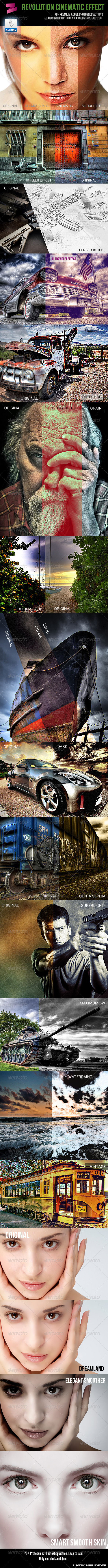 GraphicRiver Revolusion Cinematic Effects-70& Photoshop Effect 5573320