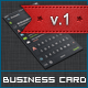 Dark iOS Business Card v.1 - GraphicRiver Item for Sale