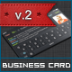 Dark iOS Business Card v.2 - GraphicRiver Item for Sale