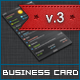 Dark iOS Business Card v.3 - GraphicRiver Item for Sale