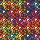 Colorful Geometric Pattern with Spirals - GraphicRiver Item for Sale