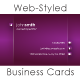 Web-Style Business Card Template - GraphicRiver Item for Sale