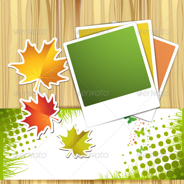 GraphicRiver Autumn Colorful Leaves and Photos 5576851
