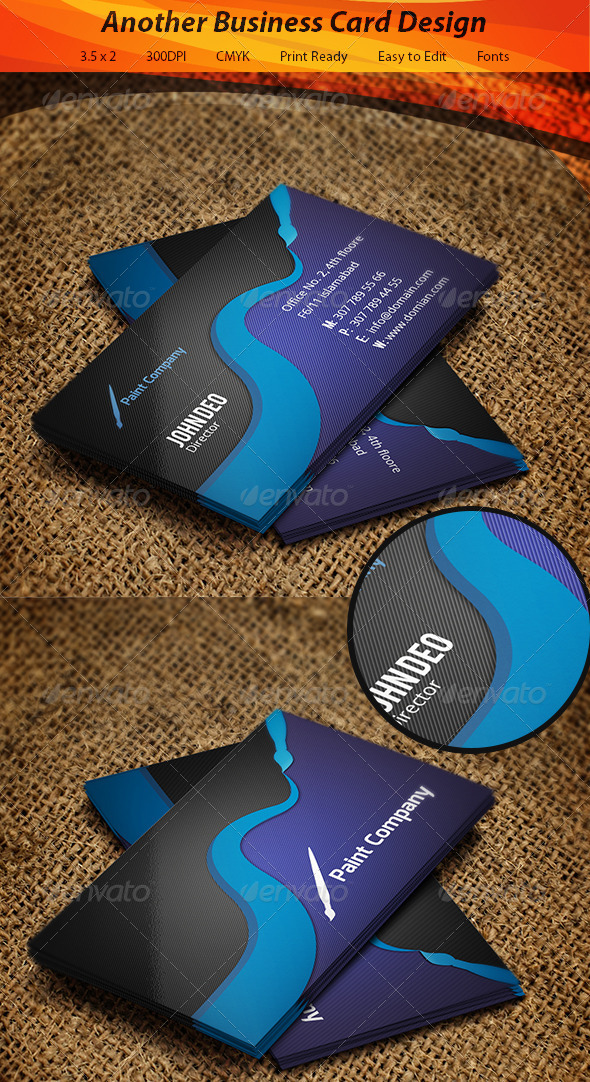 GraphicRiver Paint Company Business Card 5577307
