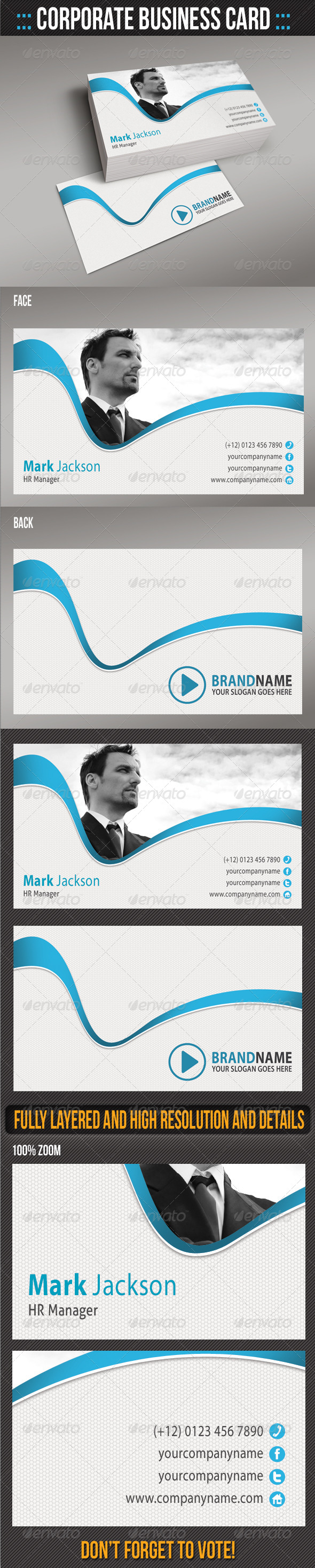GraphicRiver Corporate Business Card 07 5577371