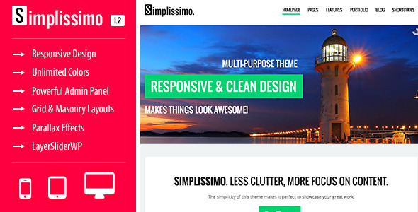 Simplissimo - A Clean Multi-Purpose Theme - Business Corporate