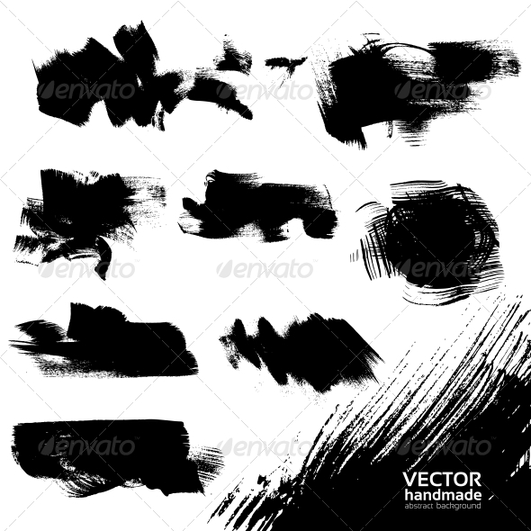 GraphicRiver Abstract Black Vector Backgrounds Set 5578047
