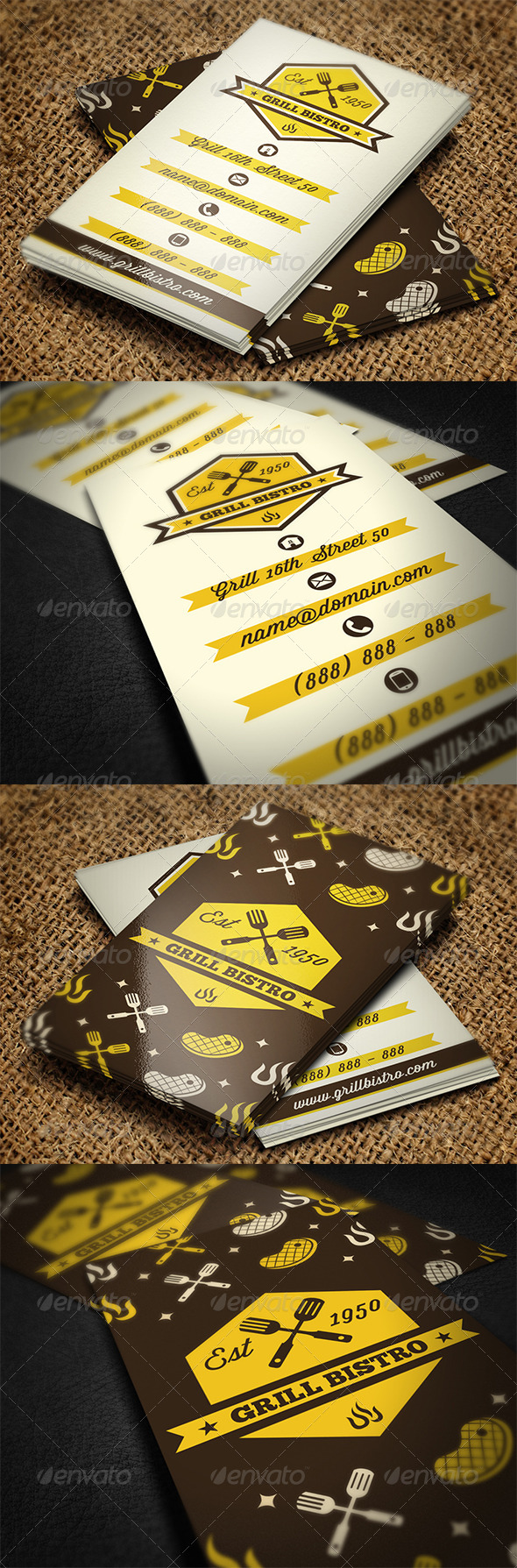 GraphicRiver Grill Restaurant Business Card 5578467