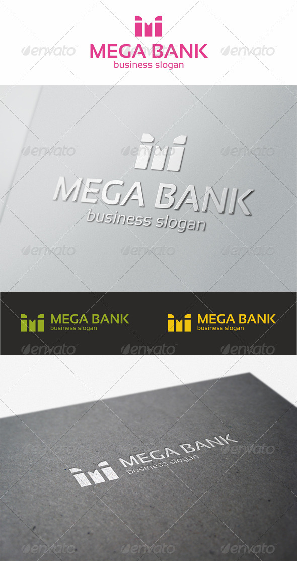 GraphicRiver Mega Bank M Logo 5578573