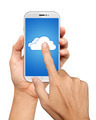 Hand Hold and Touch on Mobile Cloud computing Network - PhotoDune Item for Sale