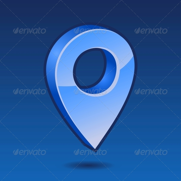 GraphicRiver Blue Pin 3D Vector 5579020