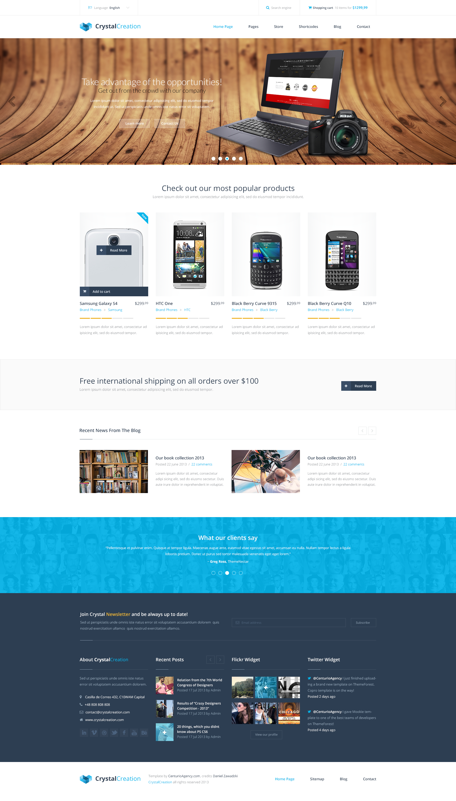 CrystalCreation - Multi Purpose PSD Template