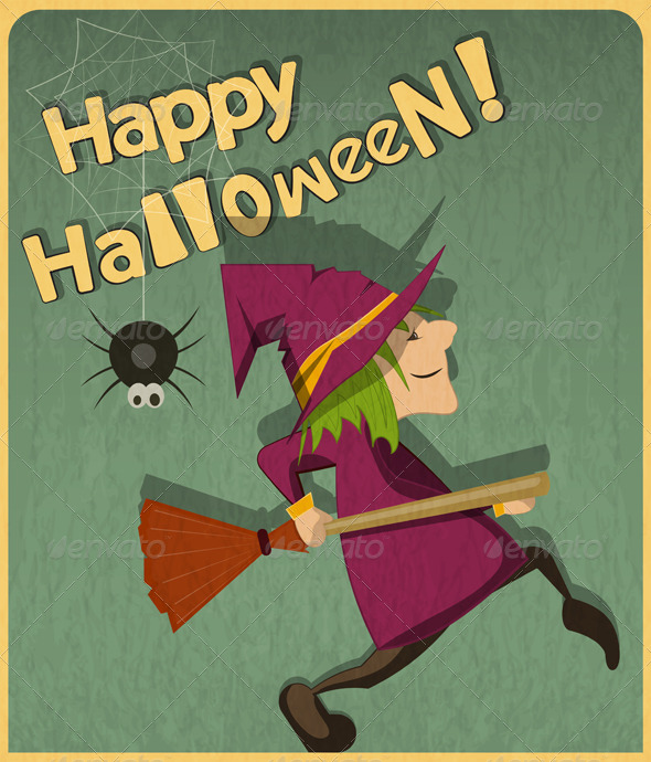 GraphicRiver Halloween Witch 5580982