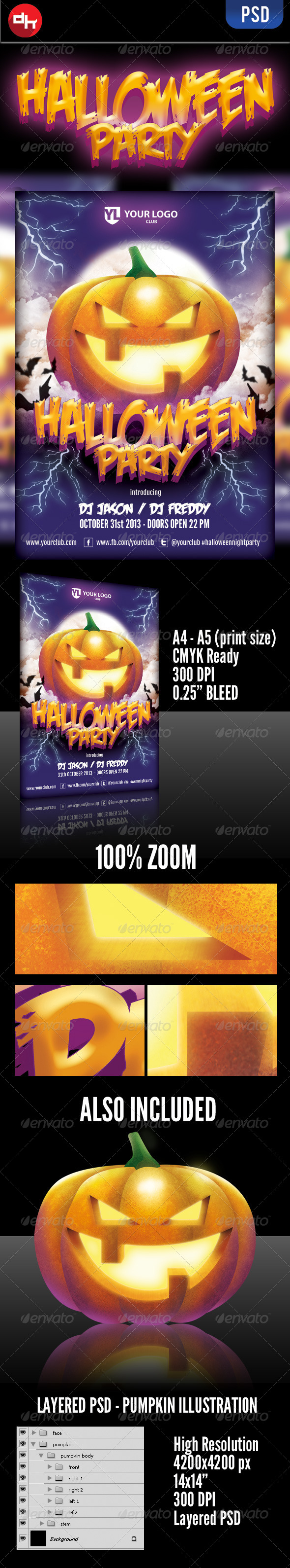 GraphicRiver Halloween Party 5581286