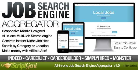 CodeCanyon Instant Job Search Engine Aggregator 5541867