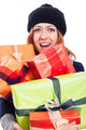 Ecstatic woman with many presents - PhotoDune Item for Sale