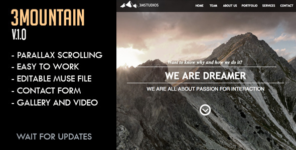 3Mountain Studios Muse Template