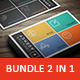 Bundle - 2 Creative Business Cards - GraphicRiver Item for Sale