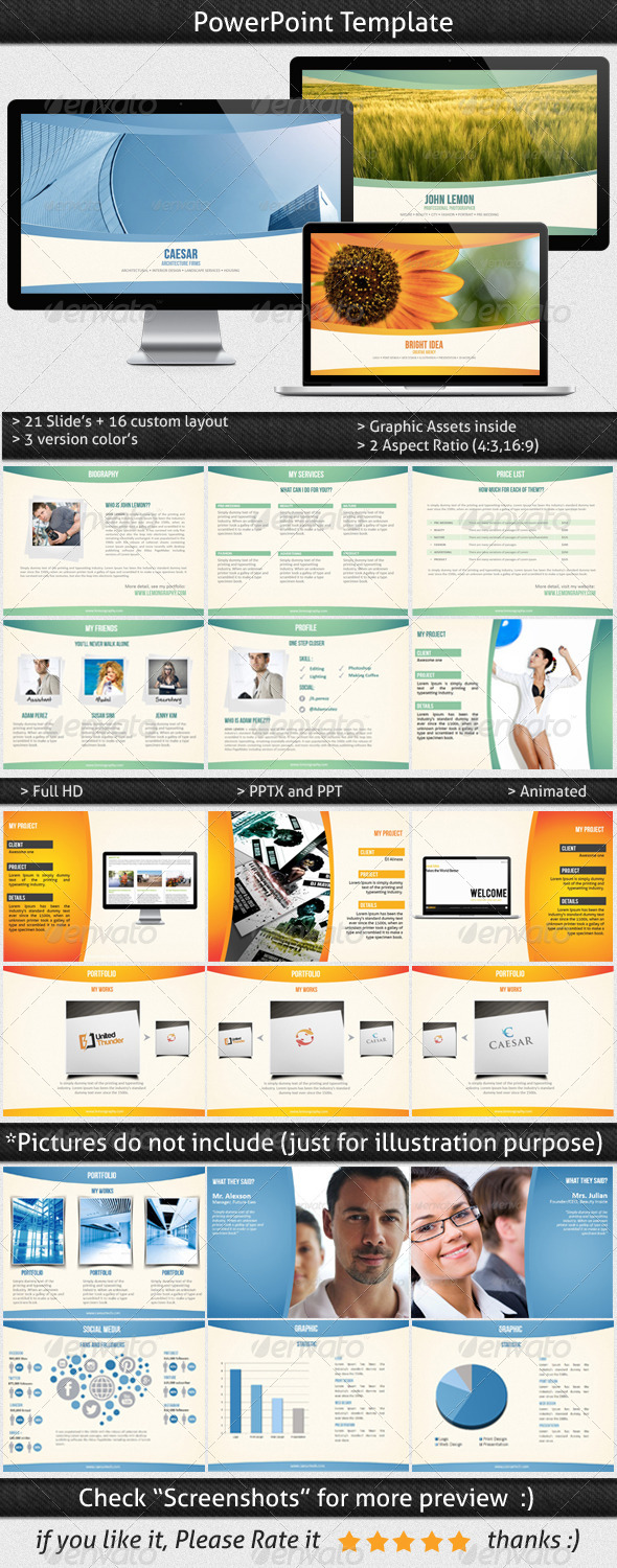 Multipurpose Powerpoint Template - Presentation Templates